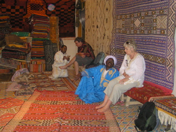 Haggling for rugs
