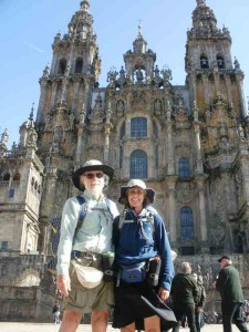 We made it - the end of the Route Santiago Cathedral where each day a 'Pligrims Mass' is celebrated
